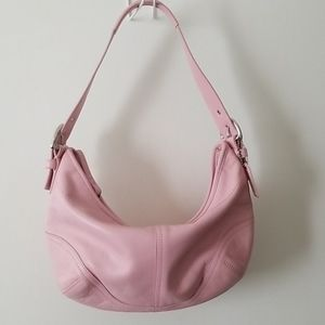 Coach hobo purse small pink